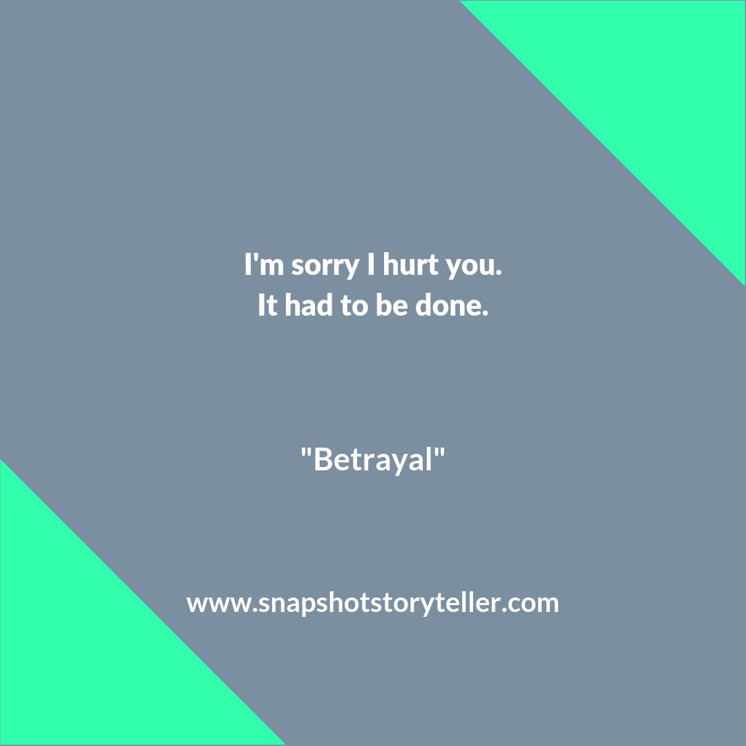 Snapshot Storyteller | Betrayal #10WordStory | www.snapshotstoryteller.com #amwriting #snapshotstoryteller #creativestoryteller #creative #storyteller #creativewriter #IWrite #WriteOn #shortstory #shortstories #10wordstory #10wordshortstories