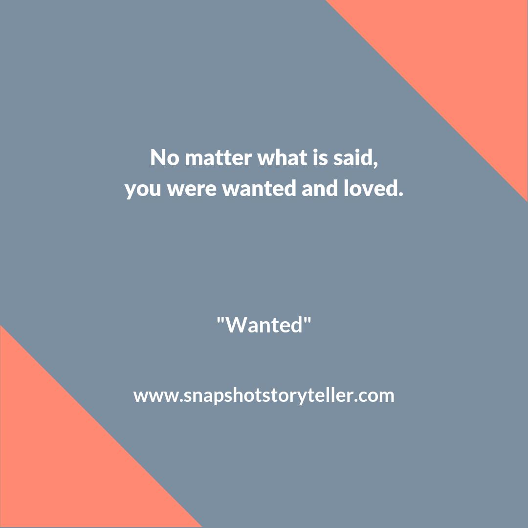 Snapshot Storyteller | Wanted #10WordStory | www.snapshotstoryteller.com #amwriting #snapshotstoryteller #creativestoryteller #creative #storyteller #creativewriter #IWrite #WriteOn #10wordstory #10wordstories