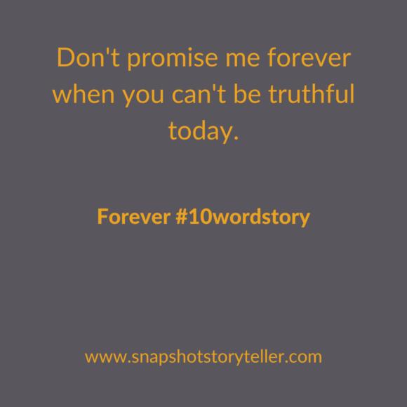 Snapshot Storyteller | Forever #10wordstory | www.snapshotstoryteller.com | #amwriting #SnapshotStoryteller #creativestoryteller #creative #storyteller #creativewriter #IWrite #WriteOn #writersofinstagram #storytellersofinstagram #10wordstory #10wordstories